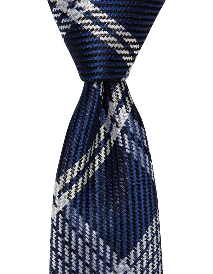 Poly Check Tie Navy image 2