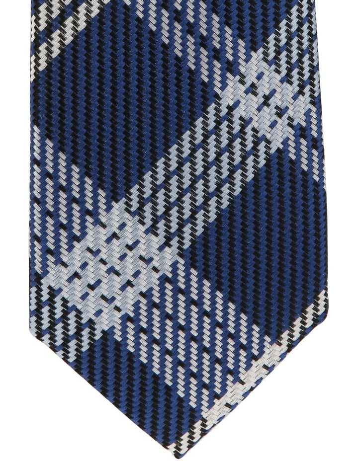 Poly Check Tie Navy image 3