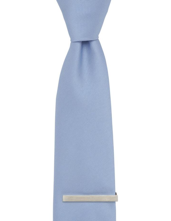 Plain Poly Tie / Tie Bar Blue image 2