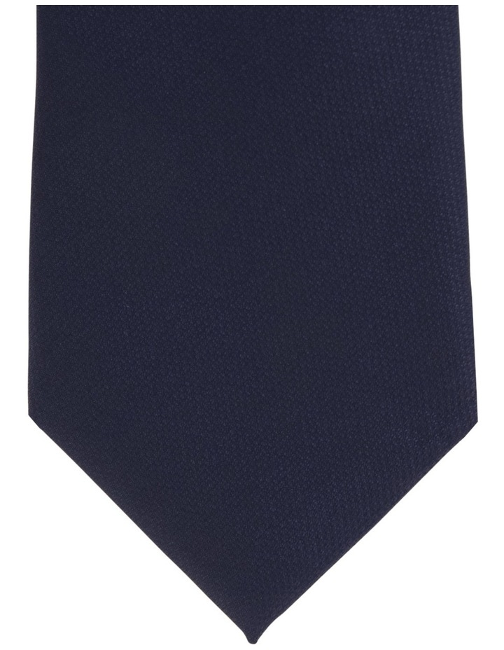 Plain/Spot Poly 2 Pack Tie Navy/Black image 2