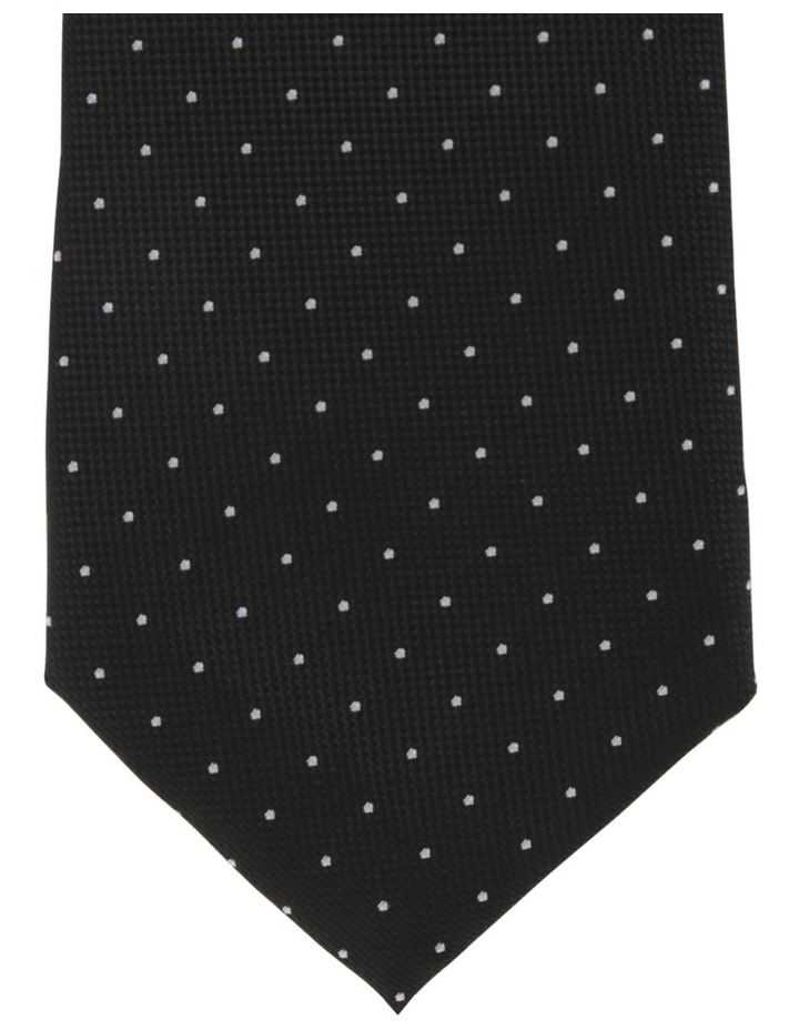 Plain/Spot Poly 2 Pack Tie Navy/Black image 3