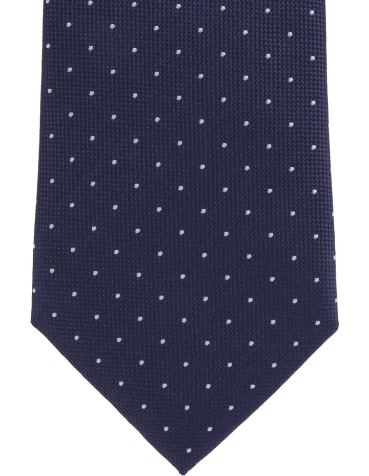 Spot/Check Poly 2 Pack Tie Navy/Green image 2