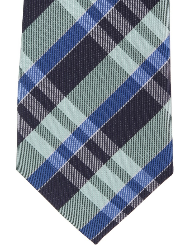 Spot/Check Poly 2 Pack Tie Navy/Green image 3