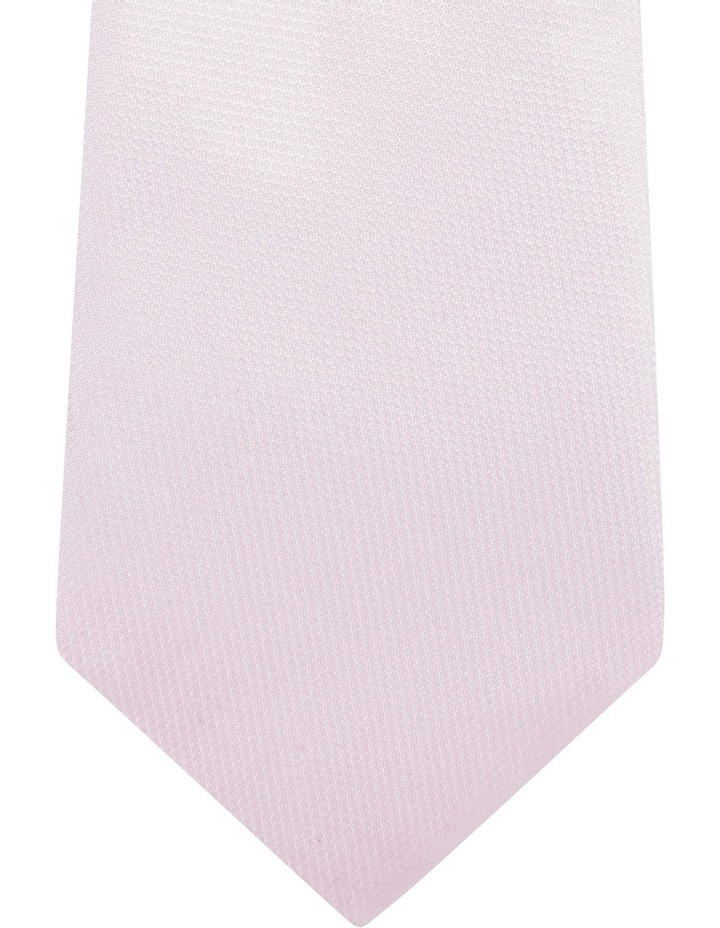 Geo/Plain Poly 2 Pack Tie Navy/Pink image 3