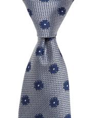 Floral Silk Tie Indigo
