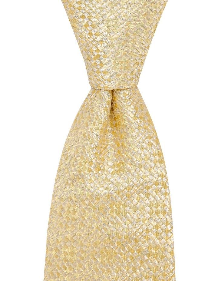 Plain Silk Tie Yellow image 1