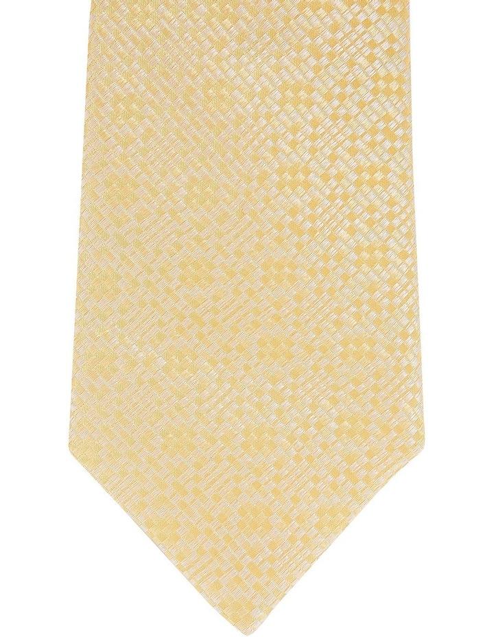 Plain Silk Tie Yellow image 2