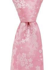 Floral Silk Tie Pink
