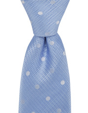 Spot Silk Tie Blue