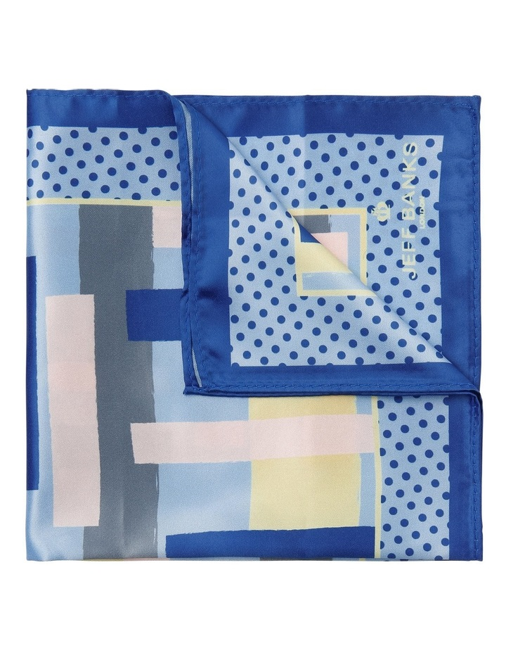 Graphic Poly Pocket Square Navy image 1