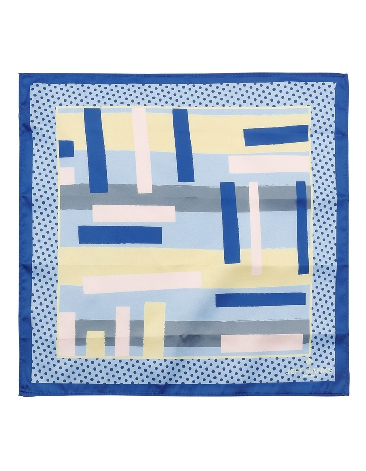 Graphic Poly Pocket Square Navy image 2