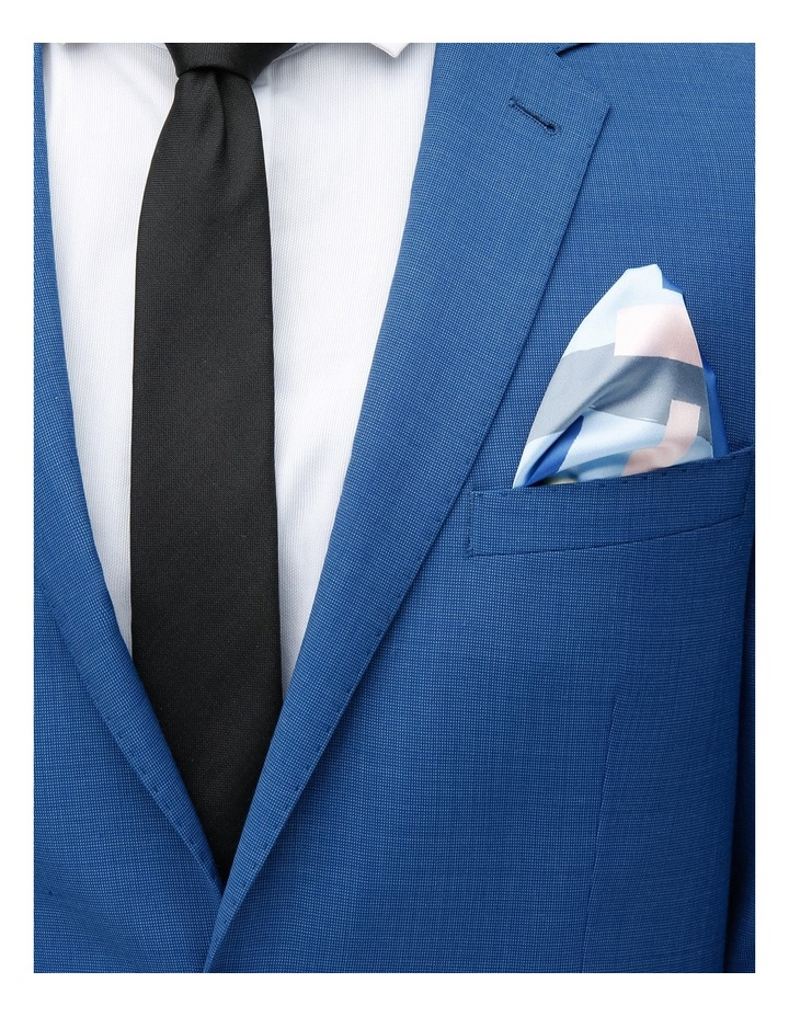 Graphic Poly Pocket Square Navy image 3