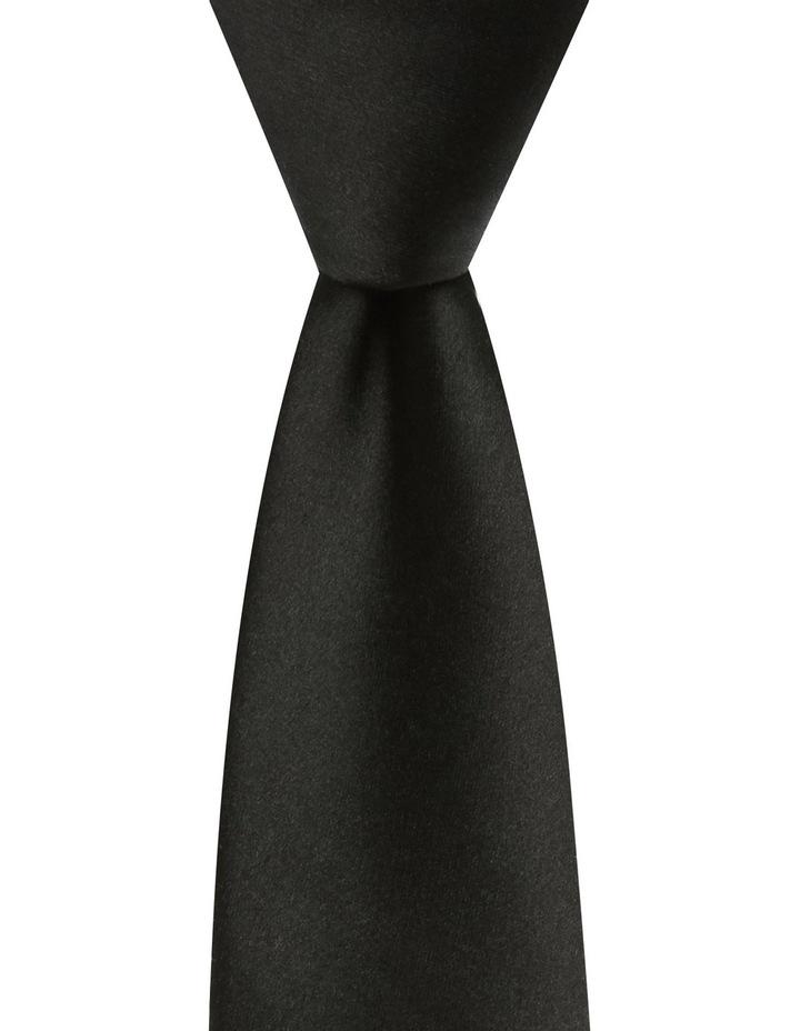 Plain Silk Tie Black image 1