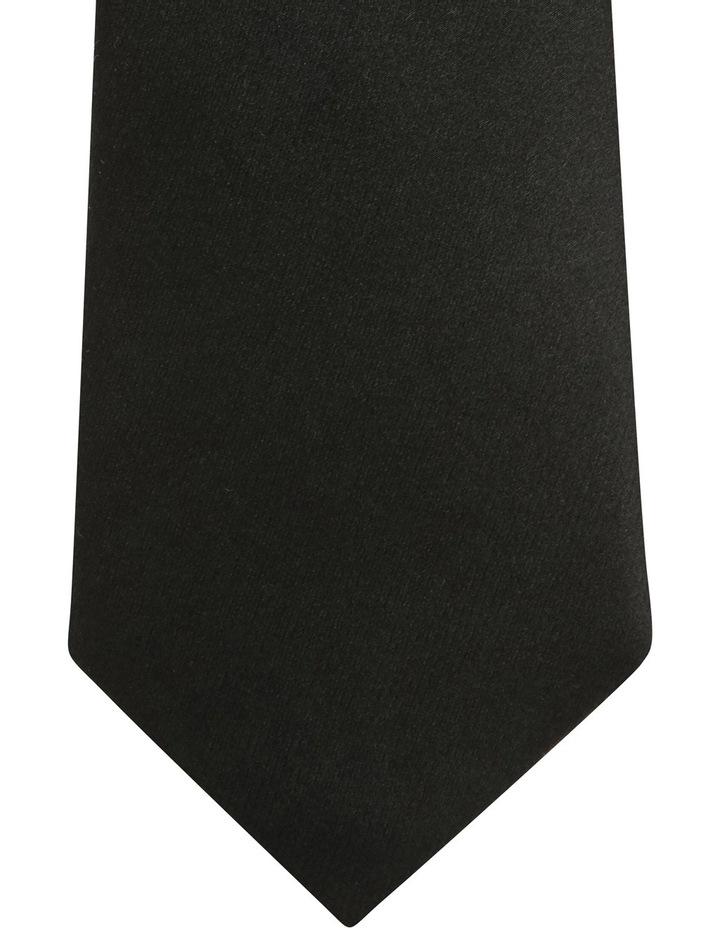 Plain Silk Tie Black image 2