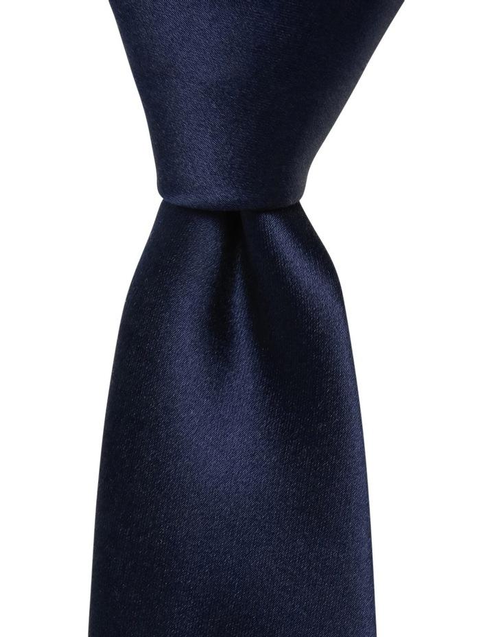 Plain Silk Tie Navy image 1