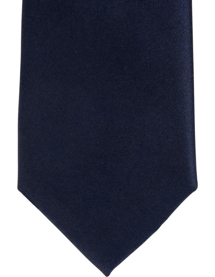 Plain Silk Tie Navy image 2