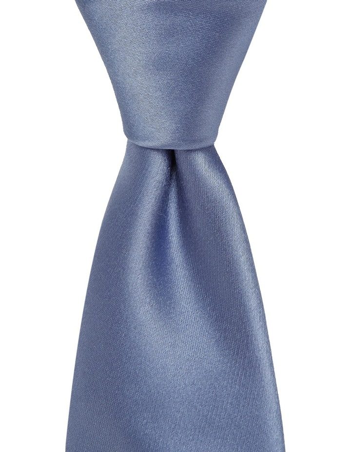 Plain Silk Tie Blue image 1