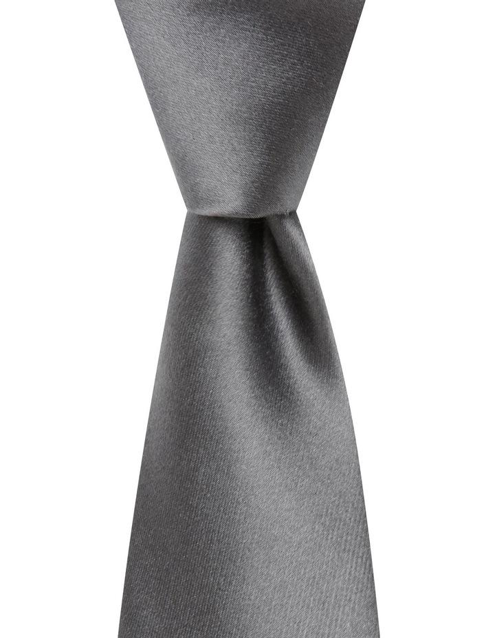 Plain Silk Tie Grey image 1