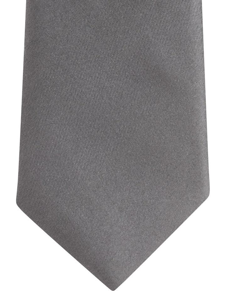 Plain Silk Tie Grey image 2
