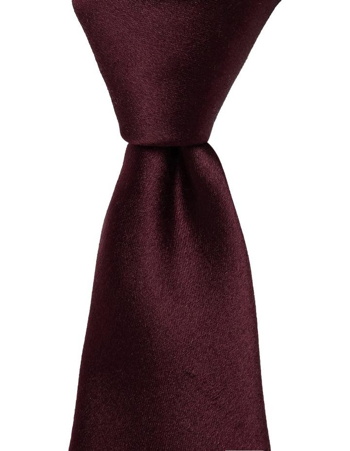 Plain Silk Tie Bordeaux image 1
