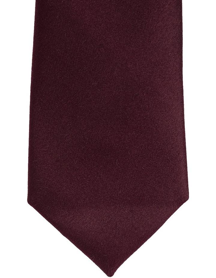 Plain Silk Tie Bordeaux image 2