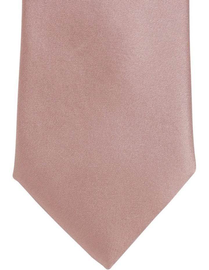 Plain Silk Tie Pink image 2