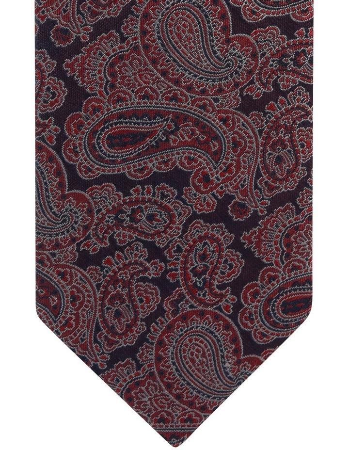 Peysli Navy And Red Paisley Silk Tie image 2