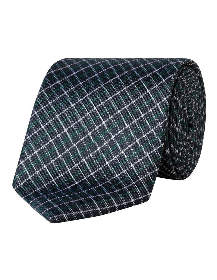 Silk Aqua Check Pattern Tie image 1