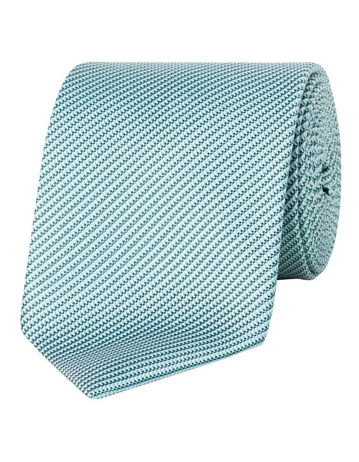 Aqua Stripe Silk Tie image 1