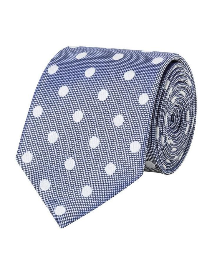 Silk Spot Tie Indigo image 1