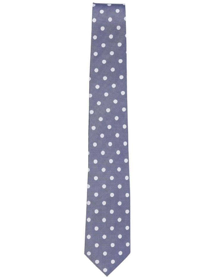 Silk Spot Tie Indigo image 2