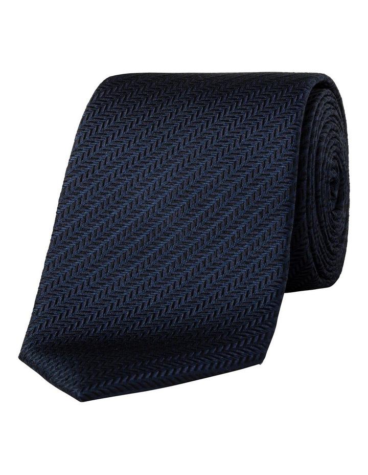 Herringbone Tie Navy image 1
