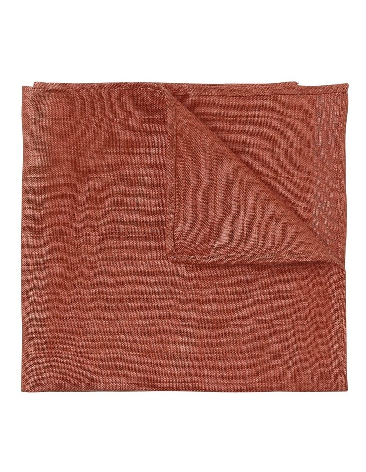 LINEN POCKET SQUARE RUST image 1