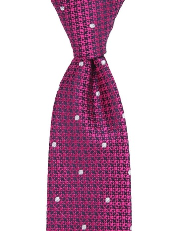 e56b07d7ea17 Jeff Banks TEXTURED TIE FUSCHIA