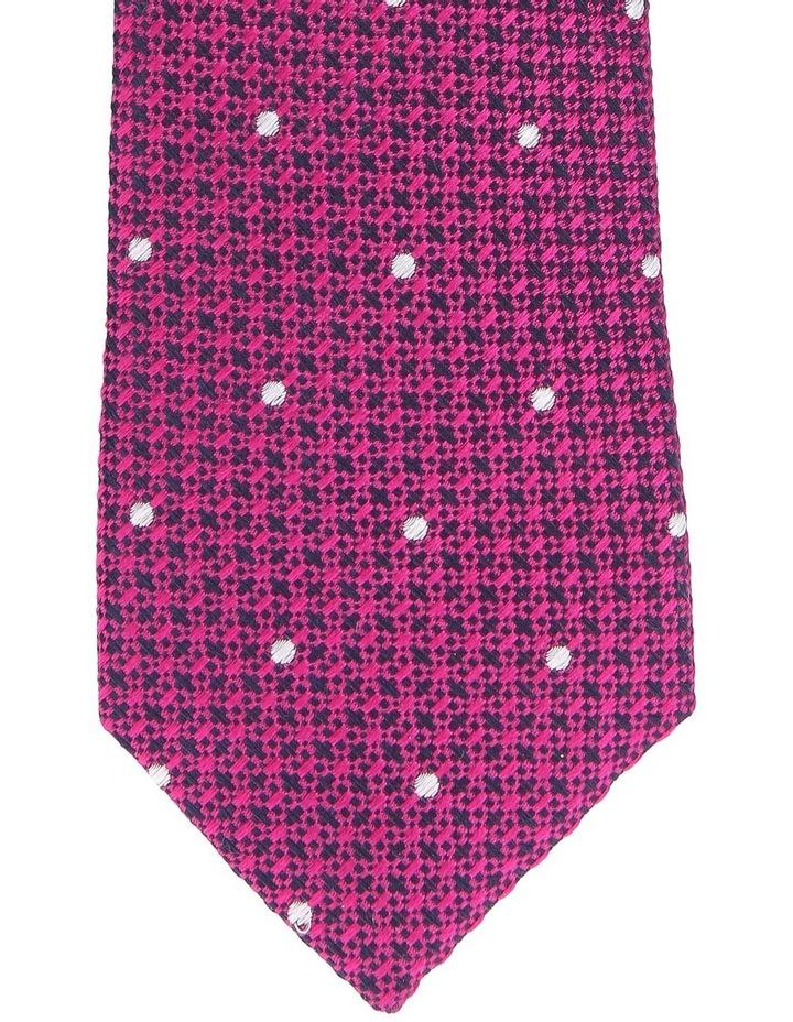 Textured Tie Fuschia image 2