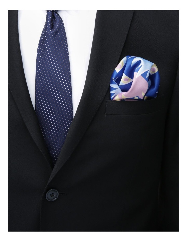 Printed Pocket Square Blue image 2