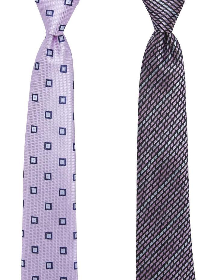 2 Pack Tie Geo/Diamond Tie Gift Pack Pink/Pink image 1