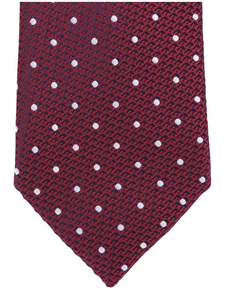 Spot/Plain Tie Gift Pack Red/Navy 2 Pack Tie image 2
