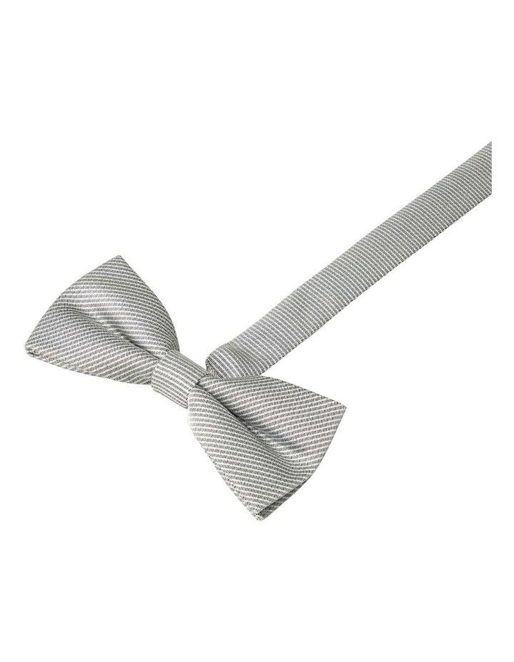 Foil Semi Plain Bow Tie Silver image 1
