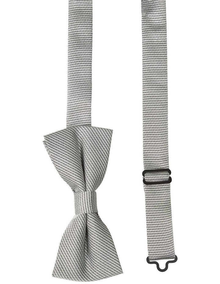 Foil Semi Plain Bow Tie Silver image 2