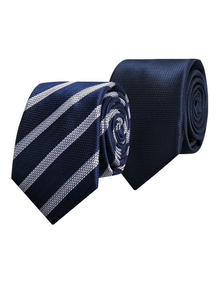 2 Pack Tie Navy/Navy image 1