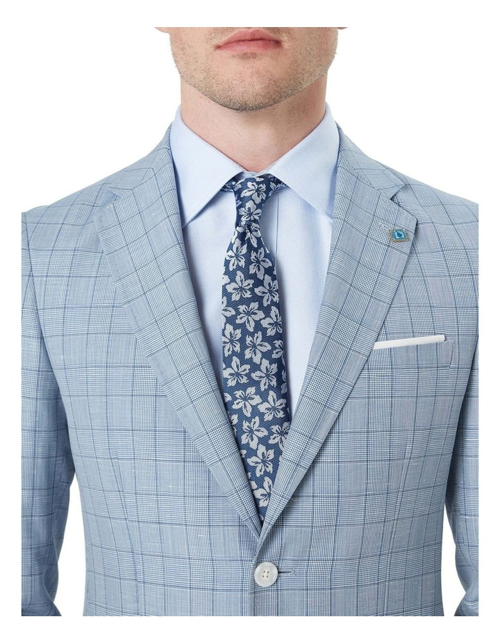 Tvesty Navy And Grey Floral Silk Tie image 2