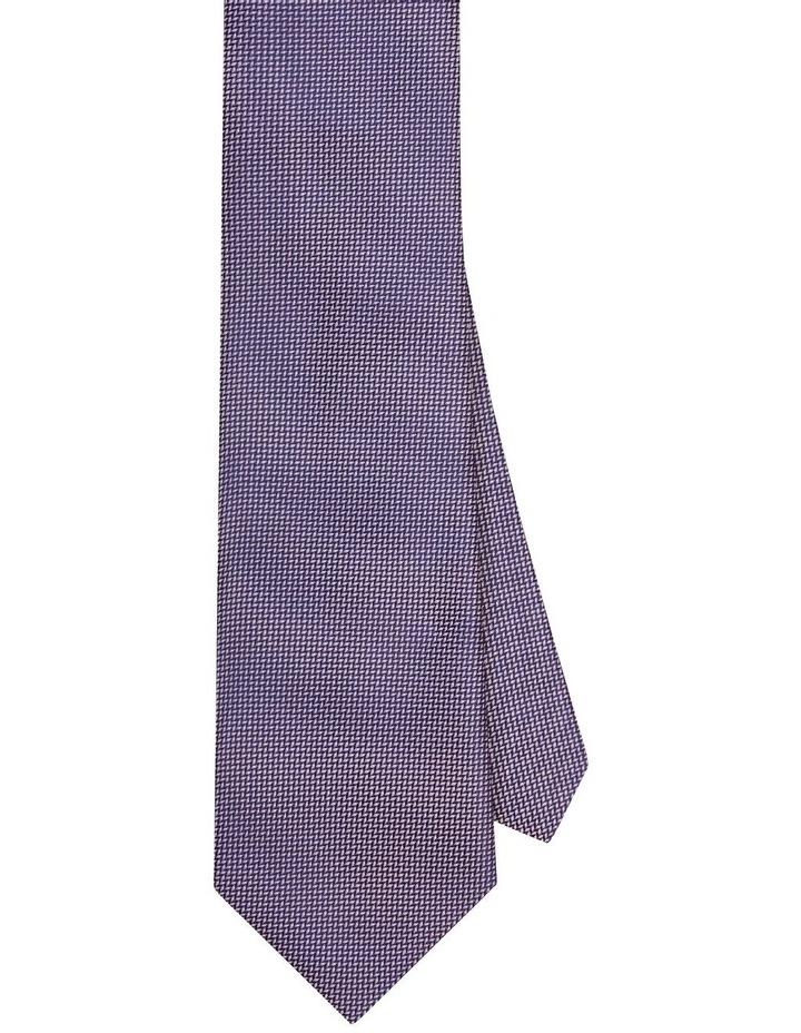 Van Heusen Pink & Navy Textured Poly Tie image 1