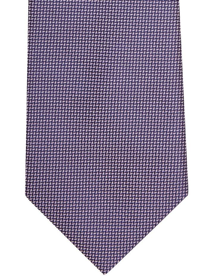 Van Heusen Pink & Navy Textured Poly Tie image 2
