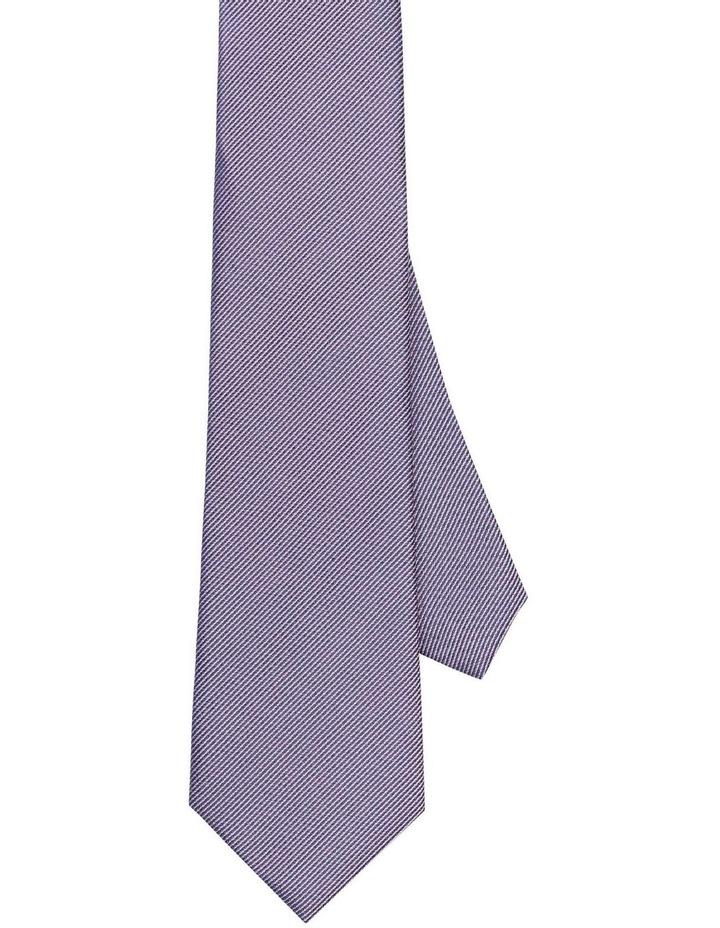 Van Heusen Mauve Textured Silk Tie image 1