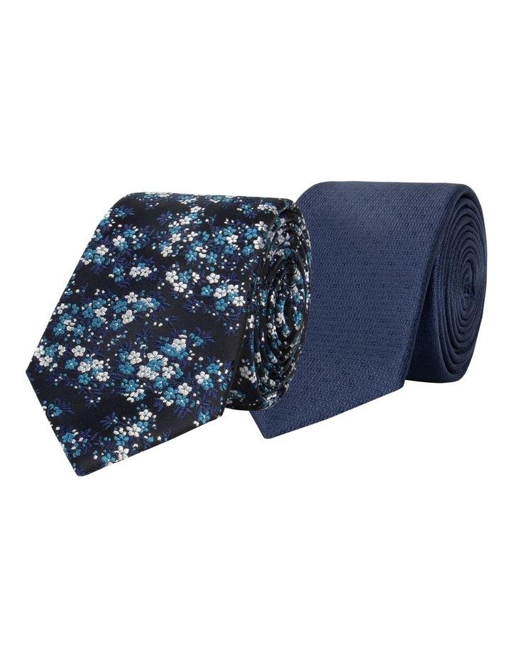 Floral/Plain 2 Pack Tie image 1