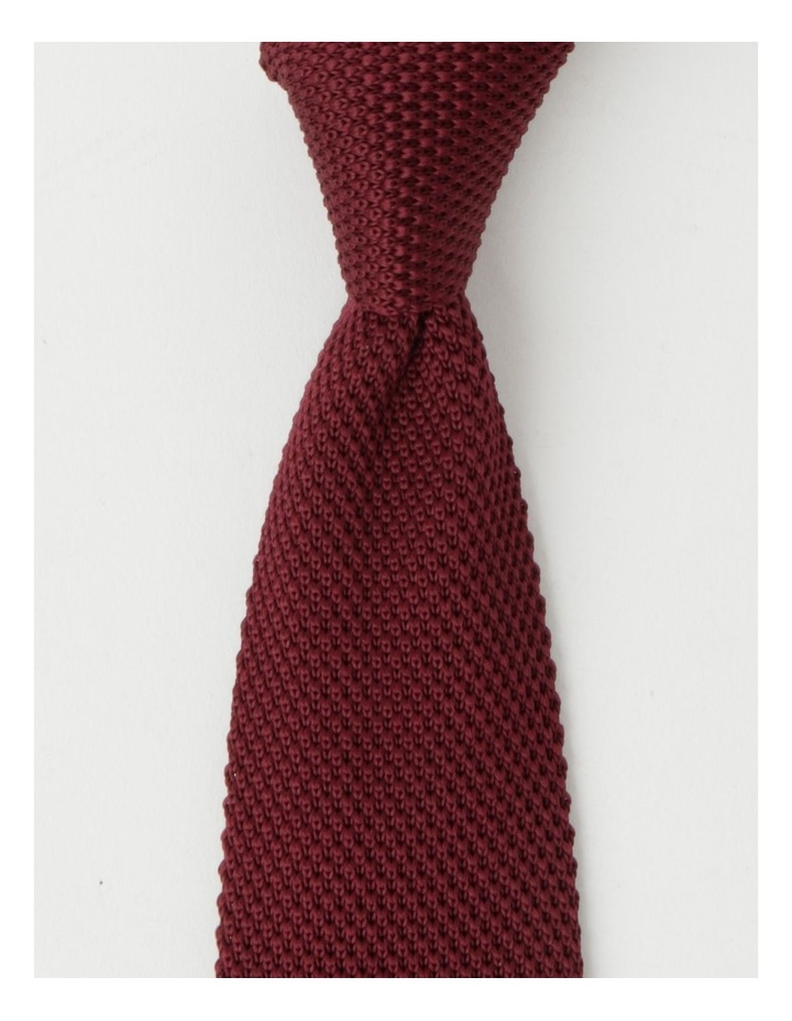 Knitted Burgandy Tie image 1