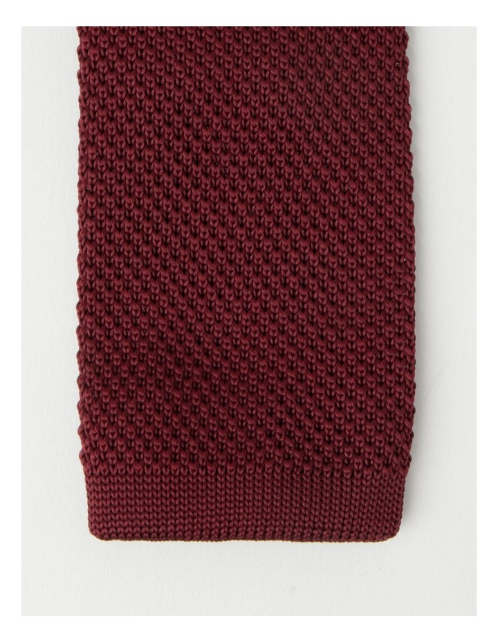 Knitted Burgandy Tie image 2