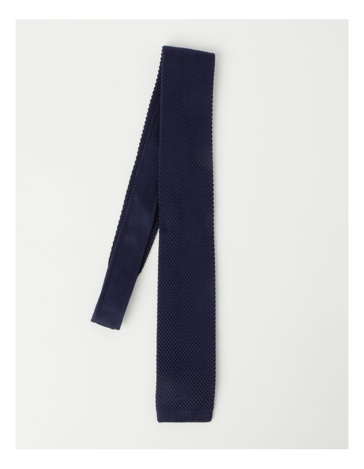 Textured Navy Bow Tie image 3