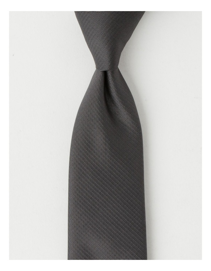 Plain Charcoal Tie image 1